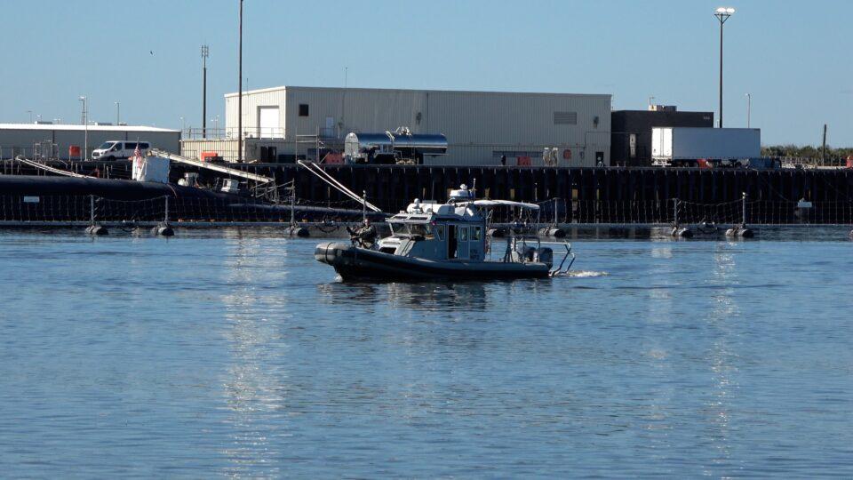 Machine Gun Security at King's Bay Nuclear Submarine Base