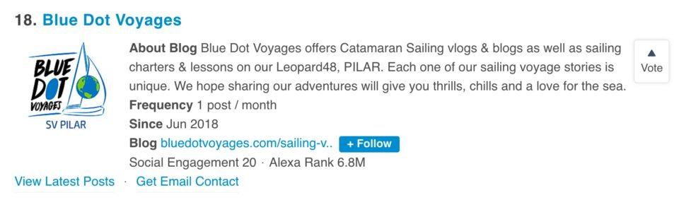 Number18-outof-top90-sailingblogs