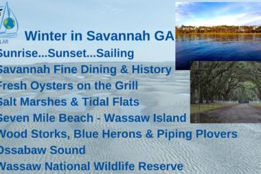 Winter Sailing in Savannah Georgia